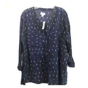 Old Navy Semi Sheer Button Down Shirt -Size Large